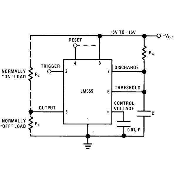 applications monostable 555 timer