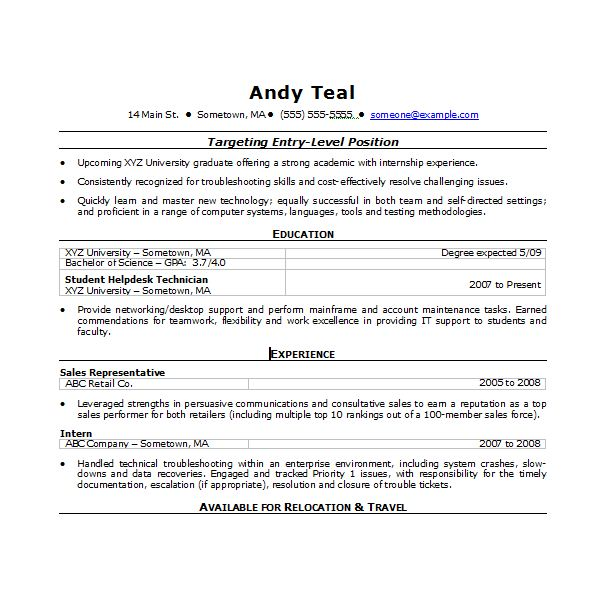 Sample Word Resume | Resume Cv Cover Letter