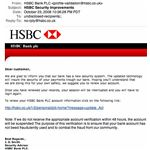 One of the top phishing threats, this is a fake email from HSBC