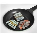 FreeDigitalPhotos, money in a pan, Boaz Yiftach