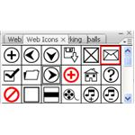 Adobe Illustrator CS3 Icons - blue and black mail icon - mail symbol