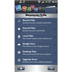Documents to Go for Android Home Screen