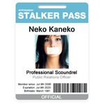 Stalker Pass Badge ID Card by chaos kaizer