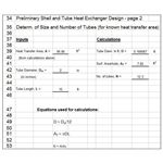 Excel Template for Shell and Tube Heat Exchanger Design prelim p2 US units