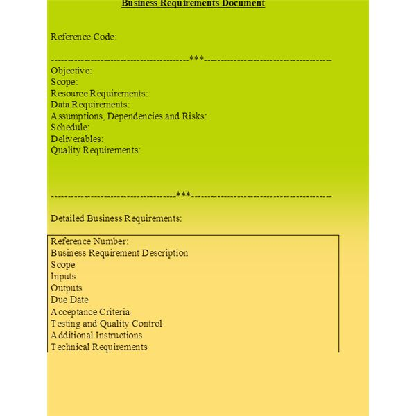 Tips For Preparing A Business Requirements Document