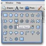 Select Quick Heart Shape