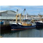 Fishing trawlers and National Marine Aquarium, Plymouth