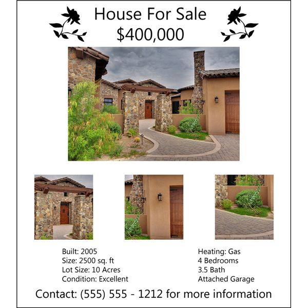 house for sale flyers