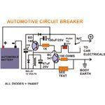 Automotive Circuit Breaker, Circuit Diagram, Image