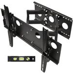 Cheetah Mounts APDAM2B Plasma LCD Flat Screen TV Articulating Full Motion Dual Arm Wall Mount Bracket