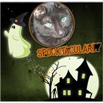 New Spooktacular scrapbook- page 1