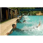 Military group performing aqua aerobics, google images