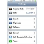 iPhone OS: Settings