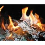 flickr, money burning, purpleslog