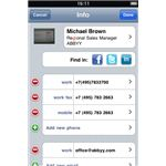 Abby Business card reader saved image info