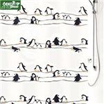 A PEVA shower curtain product image from vitafutura.com