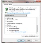 Altering Power Options to troubleshoot Windows 7 video settings