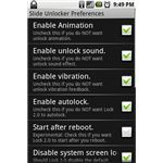 Lock 2.0 Google Android - Settings Screen