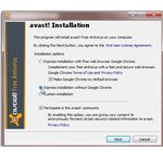 Avast Installation options