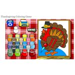 Thanksgiving Coloring Game