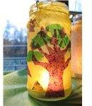 Recycled Jar Lantern