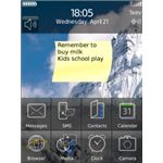StickyNotes BlackBerry App