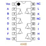 IC 4049 PIN OUTS