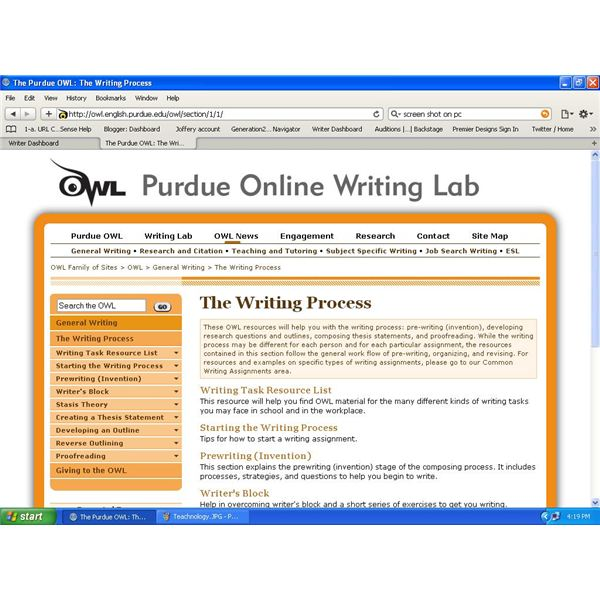 organization in essays the owl The online writing lab (owl) this site includes links to information created by other public and private organizations these.