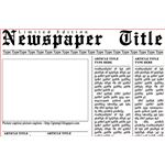 Newspaper Template for Photoshop