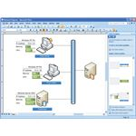 Network diagrams are commonly designed with Microsoft Visio for use by IT departments and organizations