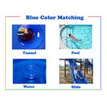 Blue preschool printable color flash card