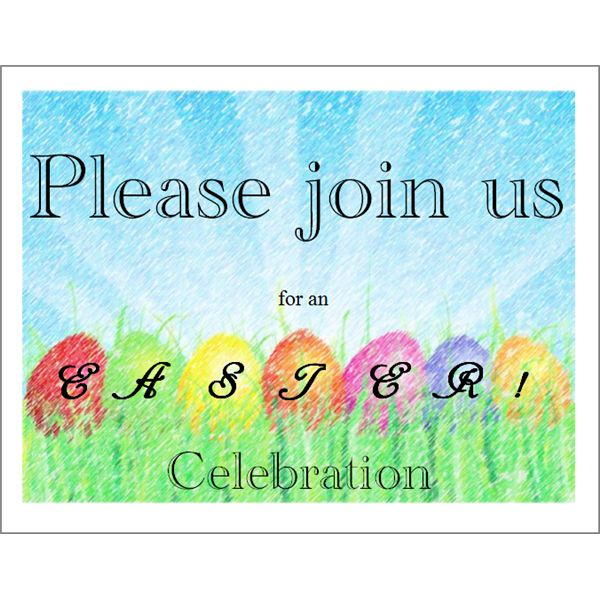 Easter Invitation  Free Event Invitation Templates