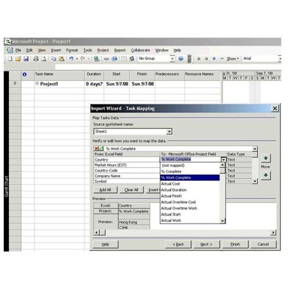 How To Transfer Excel Data To Microsoft Project