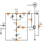 Active Tone Control Circuit Using Transistor, Image