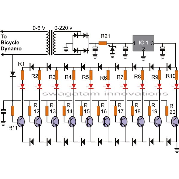 how to build a bicycle led speedometer bicycle speedometer circuit diagram image