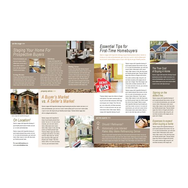 8 Great Microsoft Publisher Newsletter Templates – Real Estate Newsletter Template