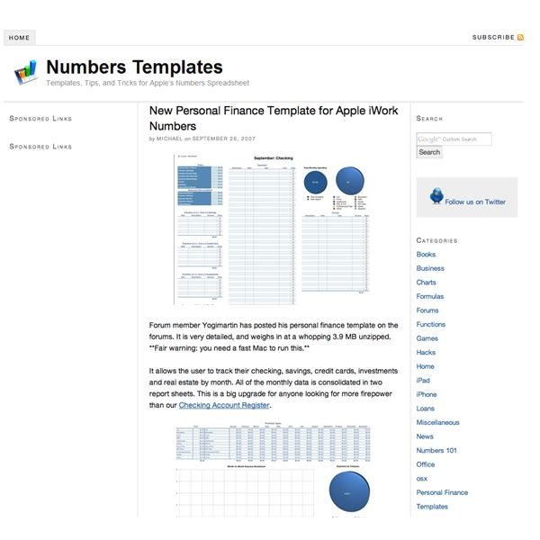 templates for numbers