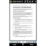 Adobe's official PDF reader Windows Mobile app