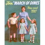 Polio Treatment - March of Dimes asking for Donations (public domain)