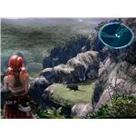 Final Fantasy XIII: A view of the Shimmering Path and a Scale Beast.