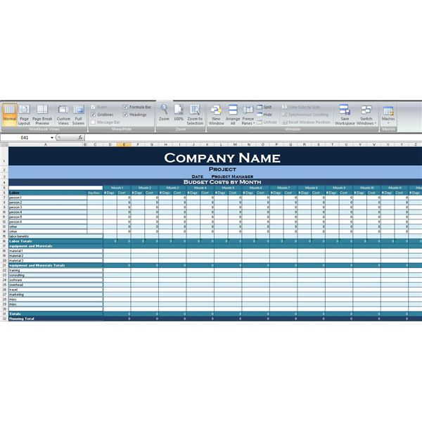 Use This Excel Project Budget Template to Simplify Your Next – Sample Grant Budget Template