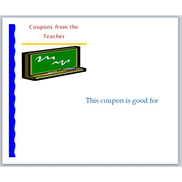Coupon Templates For Download: Teacher  Blank Coupon Templates