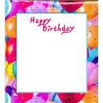 Fun Balloons Birthday Border