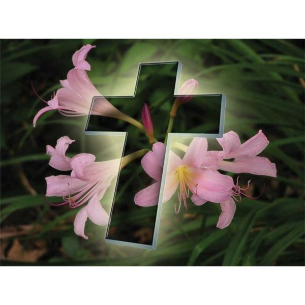 Religious Easter Wallpaper Eastercrosswithflowers