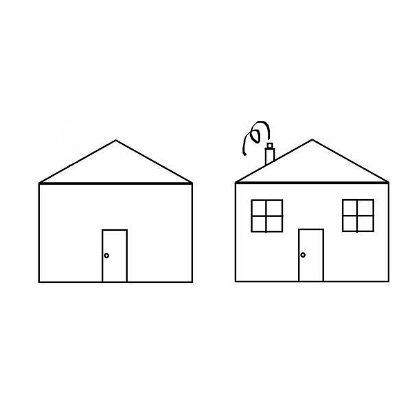 Pics for how to draw a simple house for House drawing easy