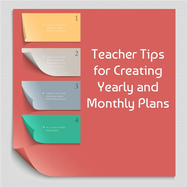 How to create monthly and yearly plans for the classroom for Year at a glance template for teachers