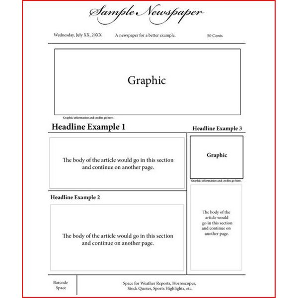newspaper article layout template for kids keywords newspaper article