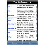 Tennis Dictionary iPhone App