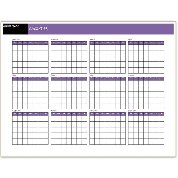 Blank Calendar You Can Type Into : Download a free yearly calendar template word makes it