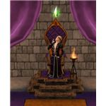 The Sims Medieval Monarch at Throne